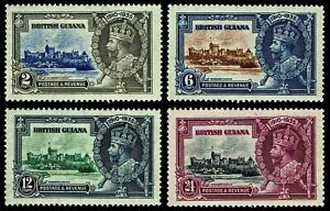 1935 British Guiana #223-26 Silver Jubilee - OGNH - VF - CV$27.50 (ESP#4257)