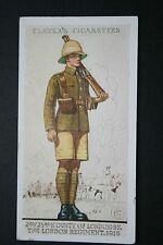 The London Regiment British Army Macedonia 1916  Vintage Uniform Card