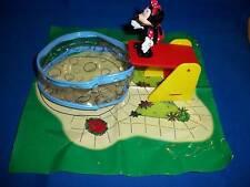 Minnie Mouse in Swimming Pool Toy Diorama Scene European Nestle Magic Maxi 1998