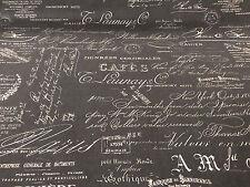 Tela De Lona Gris Vintage secuencia de comandos peso mediano 100% algodón, 135cm Ancho Vendido Por M