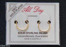 Silver Plated Hoop Fashion Earrings