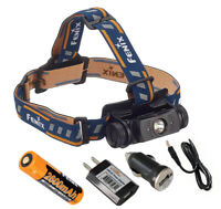 Fenix HL60R 950 Lumens USB Rechargeable Headlamp with AC & Car USB Adapters