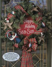 Tropical Holiday Christmas Wreath plastic canvas PATTERN INSTRUCTIONS