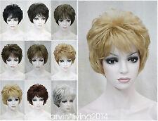 Mujeres 9 Color corto lacio señoras pelucas de cabello natural Barato Envío Gratis