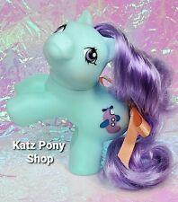 HQG1C Custom G1 MLP Style Playful Baby Pony 💜 FLIPPER 💜 w Accessories! BLUE