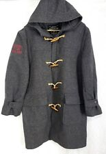 Polo Ralph Lauren Coat Mens Sz Large /XL tall LOGO Wool Vintage Toggle Duffle
