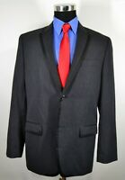 Perry Ellis 42R Sport Coat Blazer Suit Jacket Gray Black Lapel