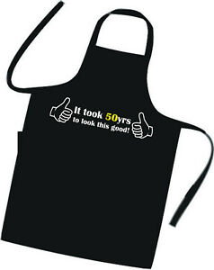 50th BIRTHDAY / Cooks / Chefs Full Length Apron / Superb Quality / Birthday Gift