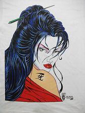 Vintage 90s Shi William Tucci 1995 Crusade Comics T shirt; NEW NOS deadstock L