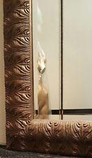 Unique Large Wall Mirror With An Antique Gold, Nouveau Leaf Design Wooden Frame
