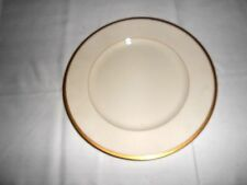 "Lenox Ivory & Gold Trim 10 1/2"" Dinner Plate for Ovington Brothers Ny"