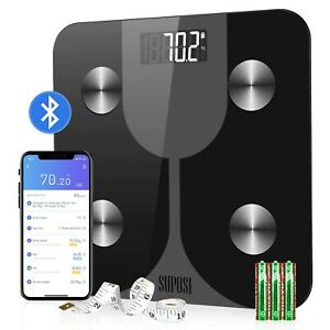 Scale Bathroom Digital Body Weight Lcd Fat Smart Glass Electronic Backlit