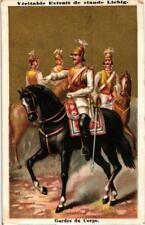 6 litho cards LIEBIG S126  military  Army horses militair Allemagne uniform 1885