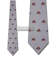 Silk Buckeyes Tie Mens Licensed Neck Ties Ohio State Buckeyes Neckties NWT