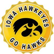 "Iowa Hawkeyes College Licensed Bottle Top Metal Sign 19"" Diameter Made In Usa"