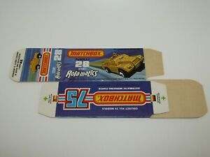 """Matchbox Superfast No 28 Stoat """"NOT RECOMMENDED"""" FLAT Box Never Made MINT"""