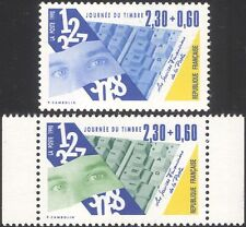 France 1990 Stamp Day/Postal Services/Eyes/Computer Keyboard 2v set (n39183x)