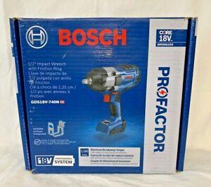 BOSCH PROFACTOR GDS18V-740N 18V 1/2 In. Impact Wrench (New In Retail Box)