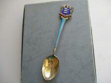 Antique Silver Enamel Souvenir Spoon - Robert Chandler Hallmarked 1923