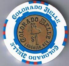 Colorado Belle $1.00 Brass Coin Center Casino Chip Laughlin Nevada