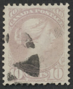 Canada #40e 10c Small Queen, Pale Milky Rose, Perf 11.6x12, VF Centered