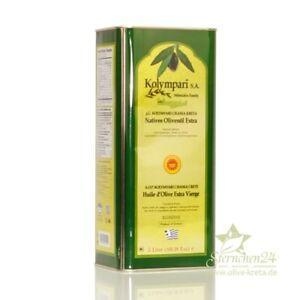 KOLYMPARI PDO 04038 Natives Olivenöl Extra 5 Liter Dose Kolymvari GU MHD 04/23