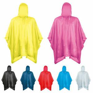 SPLASHMACS PLASTIC RAIN PONCHO FESTIVAL HIKING WALKING CONCERT GIG Adult & Kids