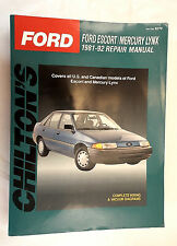 Ford Escort Mercury Lynx1981-92 Total Car Care 1992, Paperback Chiltons 8270