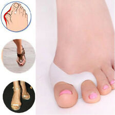 2x Silicone Gel foot fingers Two Hole Toe Separator Thumb Valgus Protector