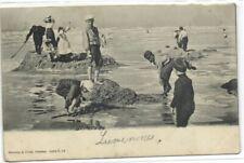 1 postcard Belgium Blankenberge zandkastelen bouwen