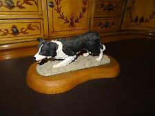 Rare Original  BORDER COLLIE on Wooden Plinth -possibly Prototype