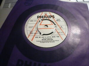WAYNE FONTANA GIVE ME JUST A LITTLE MORE TIME  1970 UK PHILIPS DEMO EX+ CON RARE