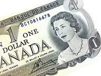 1973 Canada One Dollar BCY Prefix Uncirculated Elizabeth Canadian Banknote L363