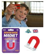 Mini HORSESHOE MAGNET Toy Boys Horse Shoe Magnet School Science Gadget Fun Toy