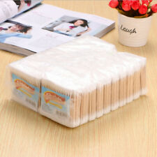 1000 X Disposable Bamboo Double Cotton Swabs Wood Sticks Buds Ears Cleaning