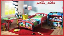 Mickey Mouse Bed w Bed RailsToddler Children Kids Room Furniture Baby Bedroom