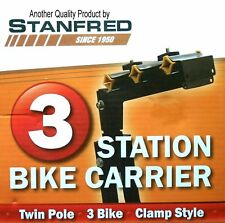 Stanfred 'A' Frame Bike Carrier With Clamps [Size: 3 Bike]