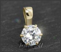 Diamant 585 Gold Brillant Anhänger, Solitär mit 0,76 ct, VVS, Damenanhänger NEU