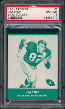 1961 Lake to Lake Packers #5 Jim Temp PSA 8 (FB01)