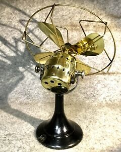 Antique Desk Fan Vintage Room Fan Brass Fan Blades & Body. Not Wired Up