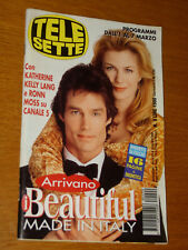 TELESETTE 1998/9=RONN MOSS KATHERINE KELLY LANG BEAUTIFUL SOAP OPERA MADE ITALY=