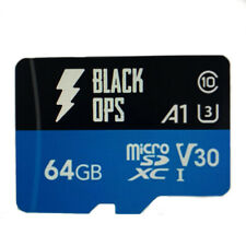64GB micro SD Card UHS 3 Class 10 4k Video Recording SDXC U3 V30 A1 Black Ops