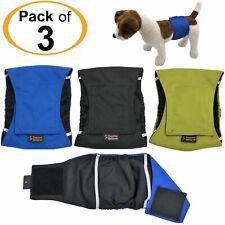 Pack-3 WATERPROOF Male Dog Diapers Belly Band Wrap Washable Small Medium Large
