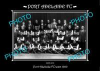 SANFL 6 X 4 HISTORIC PHOTO OF THE PORT ADELAIDE FC TEAM 1920