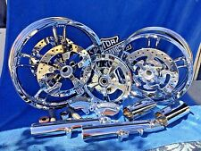 HARLEY STREET GLIDE ROAD GLIDE ELECTRA GLIDE ULTRA LIMITED CHROME WHEELS ONLY