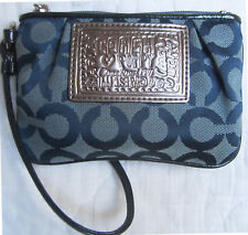 Authentic Coach Poppy Metallic Glam Wristlet / ID Case / Coin Purse
