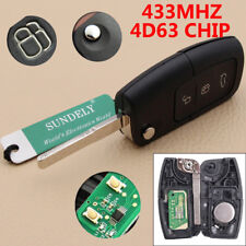 Remote Key Fob 3 Button 433MHz With Chip 4D63 For Ford Focus Mondeo C Max S Max