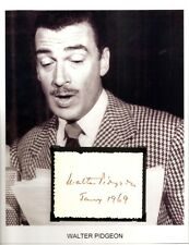 Walter Pidgeon Autograph Mrs Miniver Funny Girl Forbidden Plan Going Wild #1