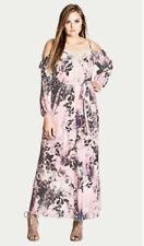 City Chic - Divine Rose Maxi Dress Size XS/Size 14 /Plus Size/Boho/Floral