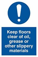 "Viking Signs Mv5536-A2P-3M""Keep Floors Clear Of Oil, Grease Or Other Slippery."